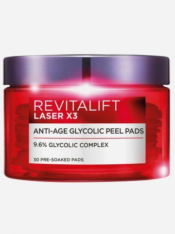 פדים לטיפול אנטי-אייג'ינג Revitalift Laser X3