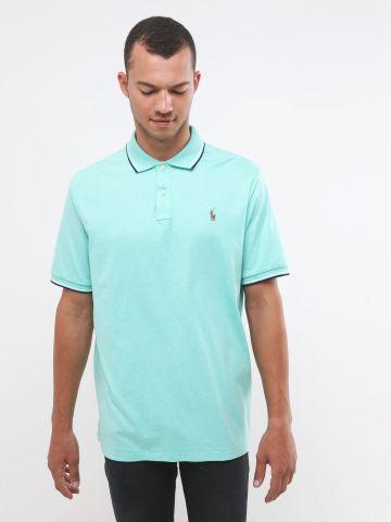 חולצת פולו עם רקמת לוגו Classic Fit
