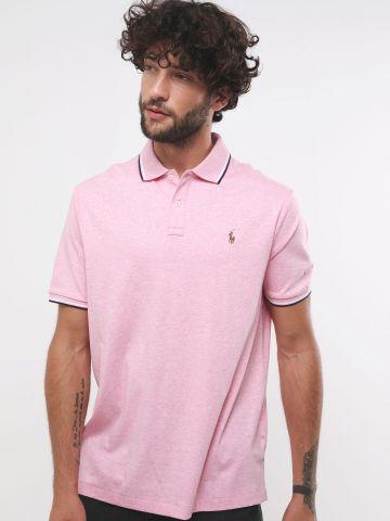 חולצת פולו לוגו עם סיומות מודגשות Classic Fit