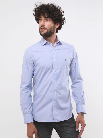 חולצה מכופתרת Slim-fit עם לוגו