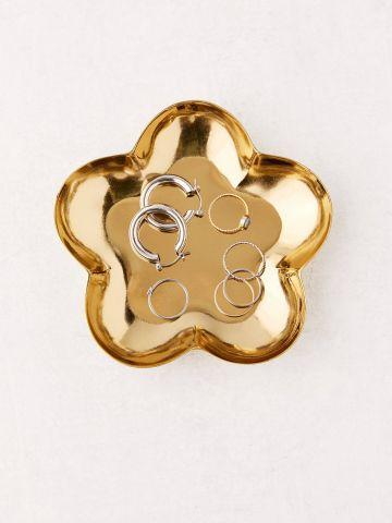 צלוחית לתכשיטים מברזל בצורת פרח UO