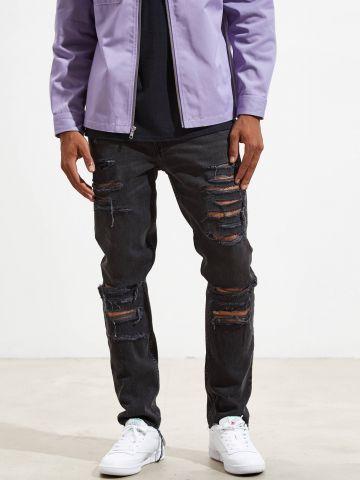 ג'ינס סקיני עם עיטורי קרעים BDG