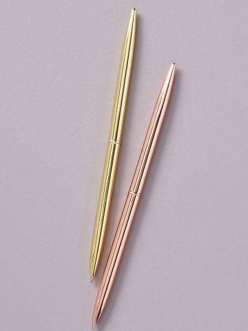 סט 2 עטים מטאליים