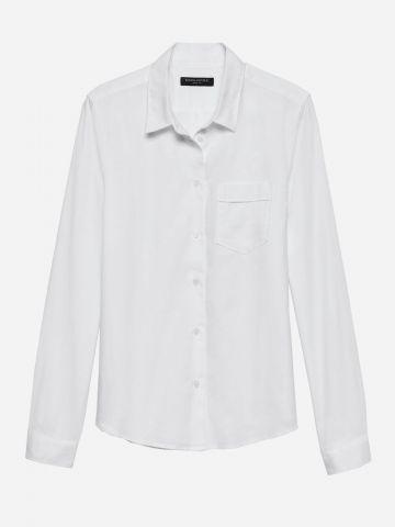 חולצה מכופתרת עם שרוולים ארוכים / נשים