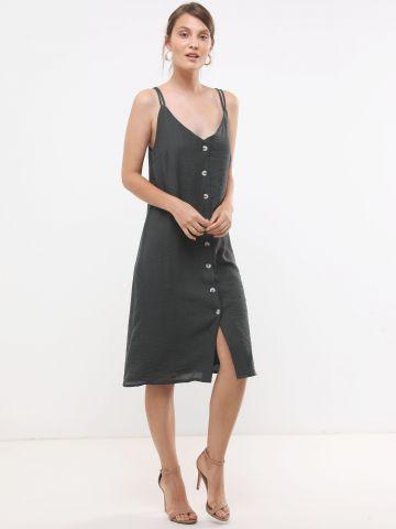 שמלת מידי עם כפתורים בחזית