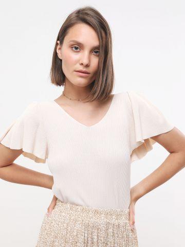 חולצת ריב עם שרוולי מלמלה של YANGA