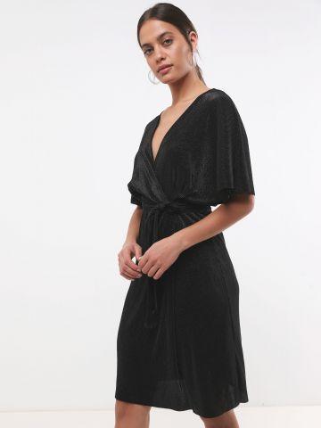 שמלת מיני פליסה בגימור מנצנץ X שושיין