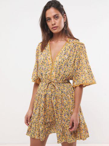 שמלת מיני בהדפס פרחים עם גדילים SABINA MUSAYEV