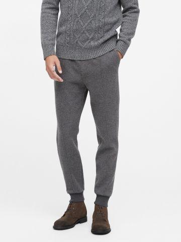 מכנסי Jogger עם גומי בסיומות / גברים
