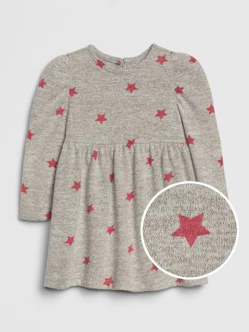 שמלה בהדפס כוכבים / 0-24M