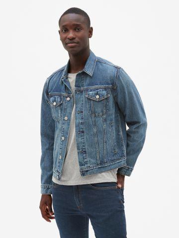 ג'קט ג'ינס עם כפתורים