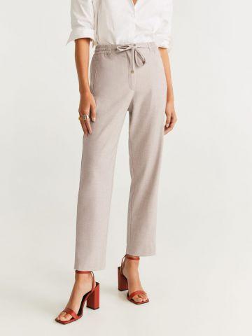 מכנסיים ארוכים בגזרה ישרה עם שרוך קשירה