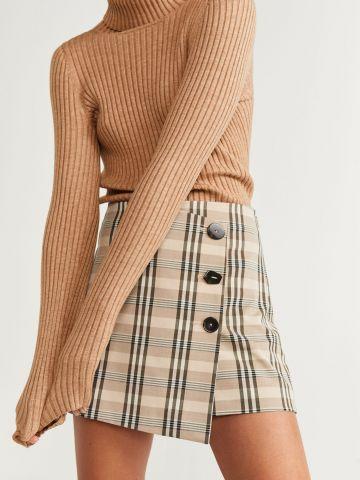 מכנסי חצאית בהדפס משבצות