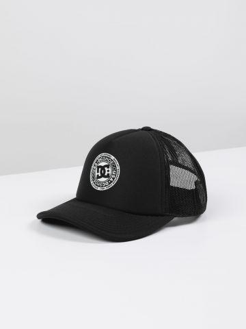 כובע מצחייה לוגו בשילוב רשת / גברים