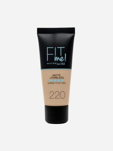 מייקאפ Natural Beige 220 / Fit Me Matte & Poreless Foundation