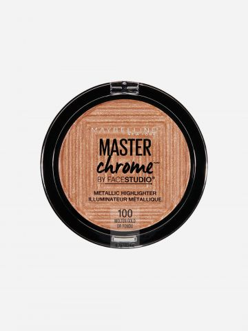 שימר מטאלי Molten Gold 100 / Master Chrome Metallic Highlighter של MAYBELLINE