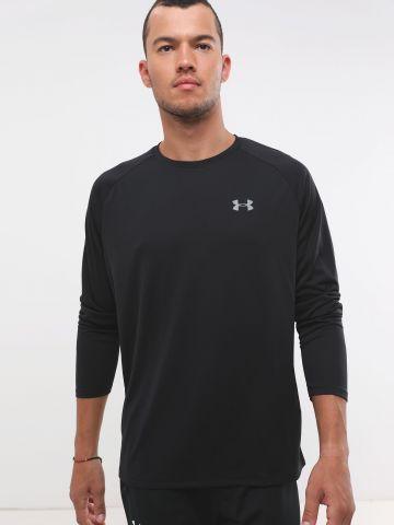 חולצת אקטיב לוגו עם שרוולים ארוכים Tech™ 2.0