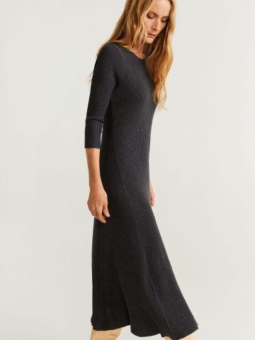 שמלת מקסי ריב חלקה