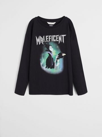 טי שירט עם הדפס Maleficent / בנות
