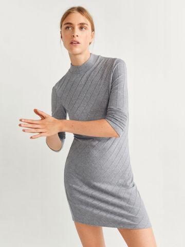 שמלת ג'רזי ריב מיני