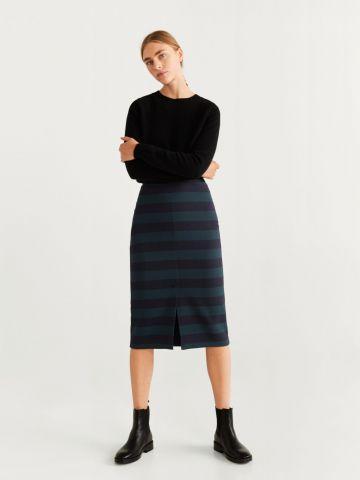 חצאית מידי עיפרון בהדפס פסים