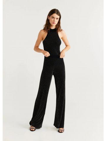מכנסיים מתרחבים עם פסי לורקס