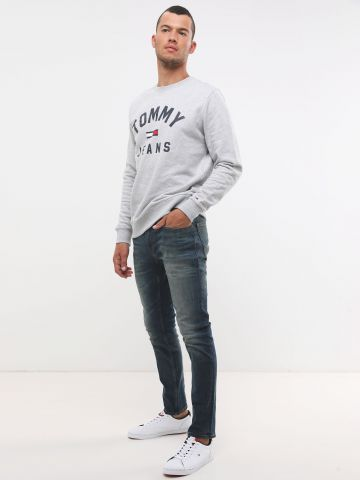 ג'ינס סלים עם הבהרות