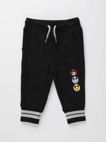 מכנסי טרנינג ארוכים עם הדפס לוגו מיקי מאוס / 12M-5Y