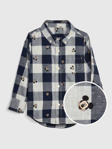 חולצה מכופתרת דיסני משבצות  / 12M-5Y של GAP
