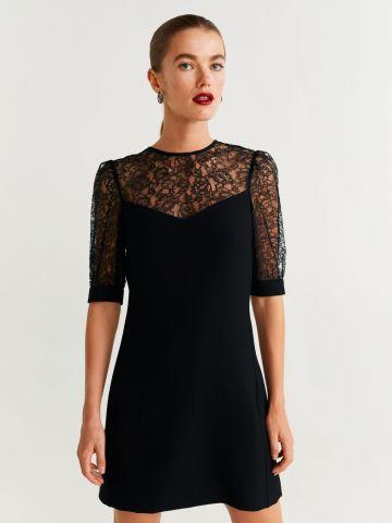 שמלת מיני בשילוב תחרה