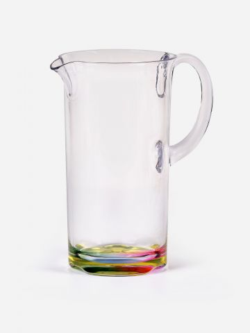 קנקן שתיה עם תחתית צבעונית Rainbow