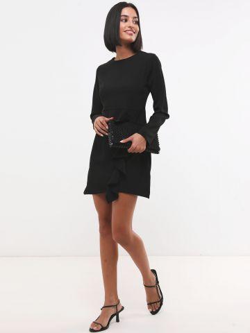 שמלת מיני עם עיטור מלמלה