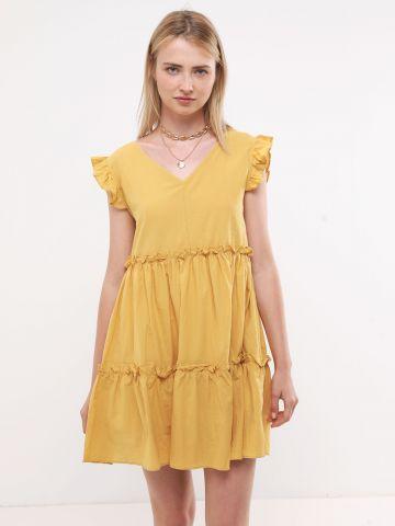 שמלת מיני קומות עם עיטורי מלמלה