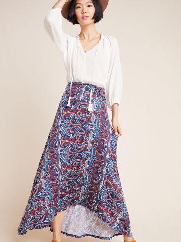 חצאית מקסי בהדפס פייזלי Maeve