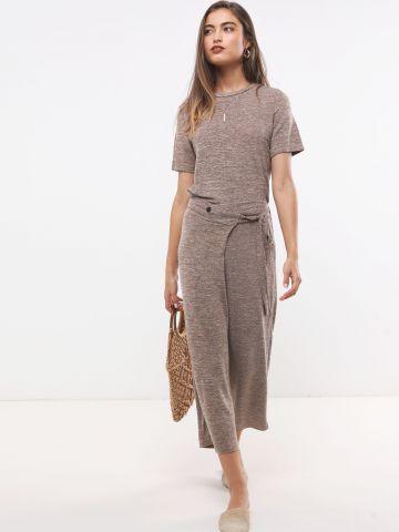 מכנסי סריג 7/8 בסגנון מעטפה עם קשירה של YANGA