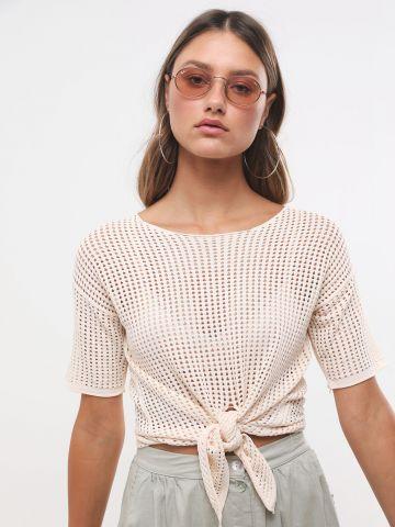 חולצת רשת עם קשירה