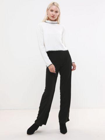 מכנסיים מחוייטים עם חגורת הידוק