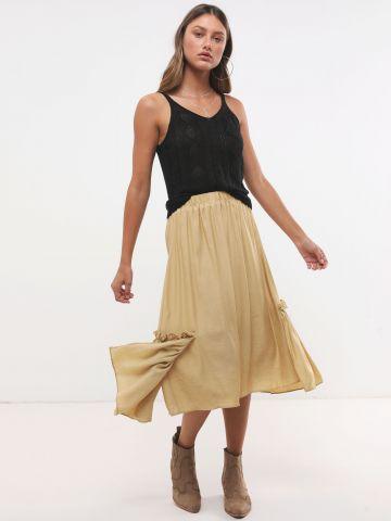 חצאית מידי עם עיטורי מלמלה