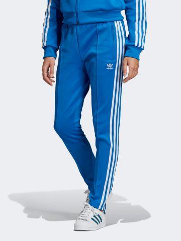 מכנסי טראק ניילון עם פסי המותג