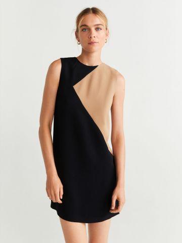 שמלת מיני קולור בלוק