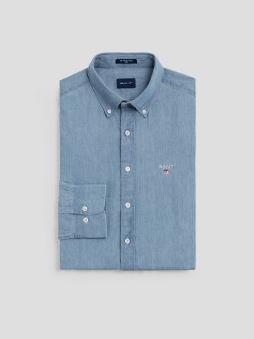 חולצת ג'ינס מכופתרת Slim / גברים