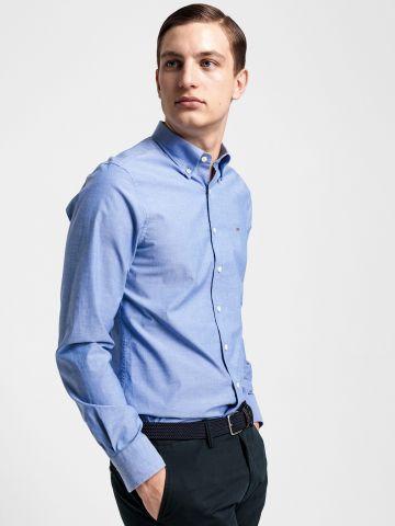 חולצה מכופתרת בגזרת Slim עם רקמת לוגו של GANT