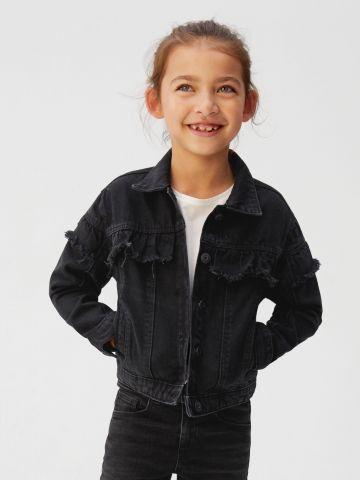 ג'קט ג'ינס עם עיטורי מלמלה פרומה