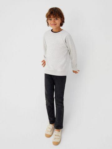 ג'ינס ווש בגזרה ישרה / בנים של MANGO