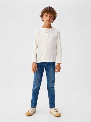 ג'ינס ווש בגזרה ישרה / בנים