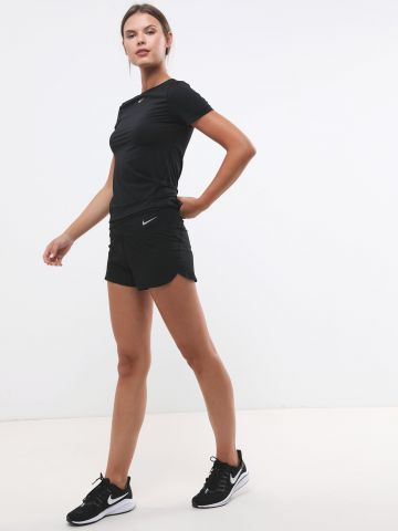 מכנסי ריצה עם הדפס לוגו