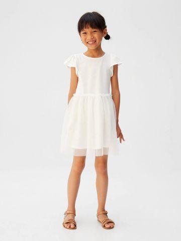 שמלת מיני עם חצאית טול