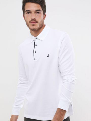 חולצת פולו עם רקמת לוגו