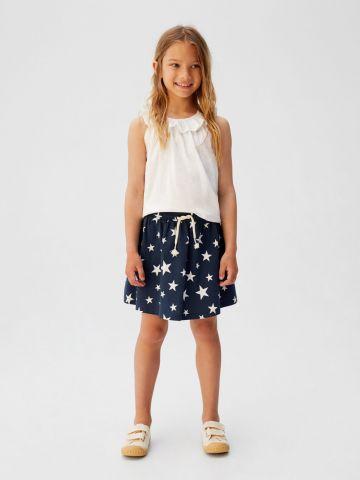 חצאית מיני בהדפס כוכבים