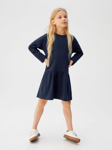 שמלת מיני שרוולים ארוכים